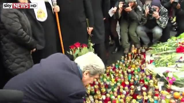 News video: Kerry Pledges Support In Kiev