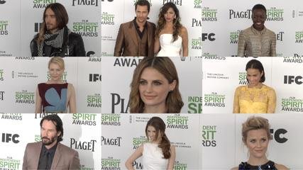 News video: 2014 SPIRIT Awards ARRIVALS Cate Blanchett, Jared Leto, Stana Katic, Lupita Nyong'o, Paula Patton